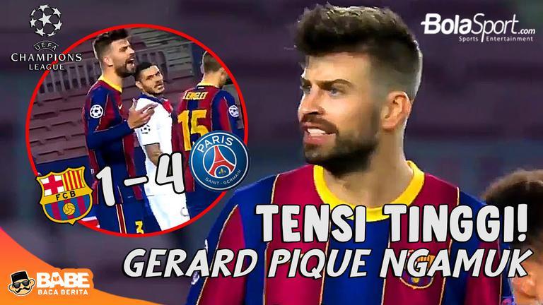 PANAS! Barcelona Dibantai PSG, Gerard Pique Ngamuk-ngamuk #GerardPiqué #FC Barcelona