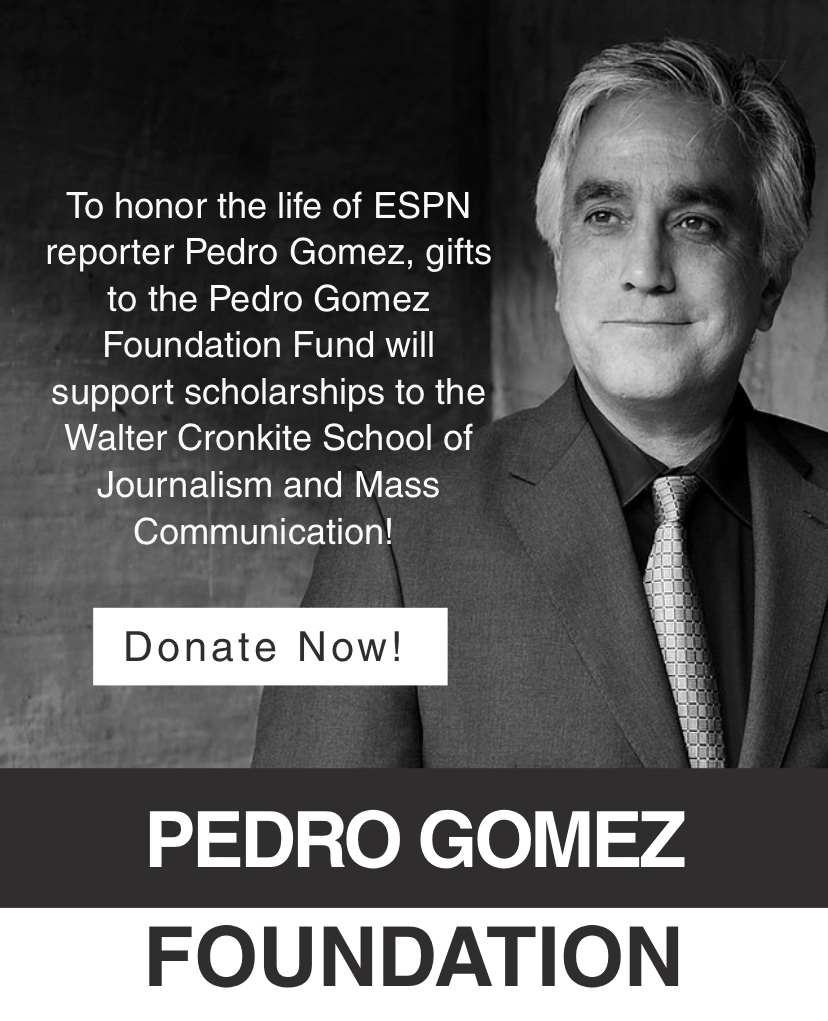 To honor the life of ESPN reporter Pedro Gomez, gifts to the Pedro Gomez Foundation Fund will support scholarships to the @Cronkite_ASU! #media #journalism #arizona #espn #nahj #nabj #phoenix #asu #ForksUp pedrogomezfoundation.org