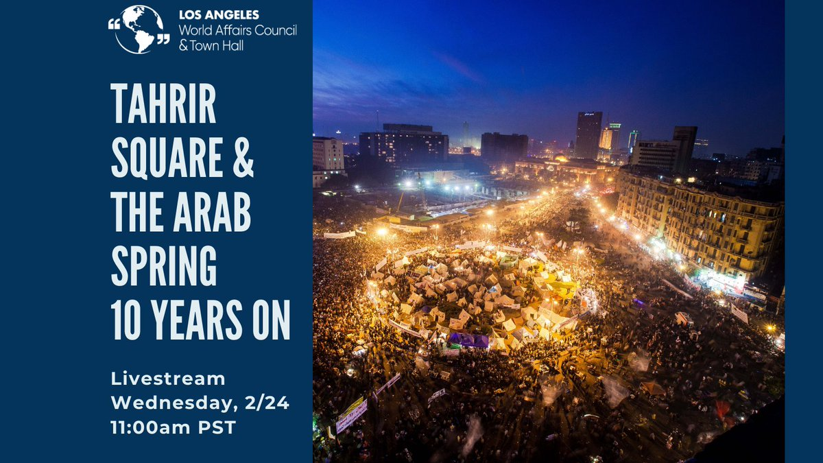 As we anticipate #Biden's foreign policy for the Middle East, let's consider the developments that have occured since the Arab Spring, now a decade ago(!), in a conversation with @RobinsonL100 and Prof. Paul Amar (@ucsantabarbara).  Register here: