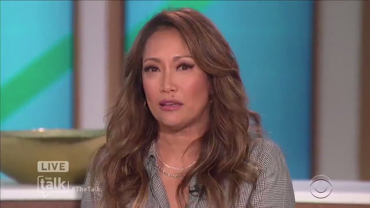 """Host @carrieanninaba gets emotional talking about the increase in violence against Asian-Americans. """"We need, as people, to work on finding ways to spread love, and understanding, and compassion and kindness."""" https://t.co/NZerigbEw2"""