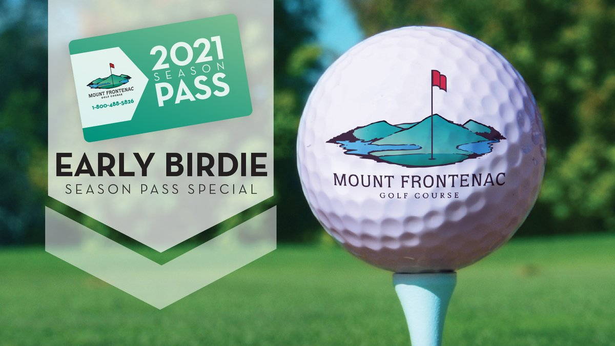 Up your golf game with our Early Birdie special! Purchase your 2021 Mount Frontenac Golf Course season pass by April 15 to save with our Early Birdie pricing. Visit  for more information. ⛳️
