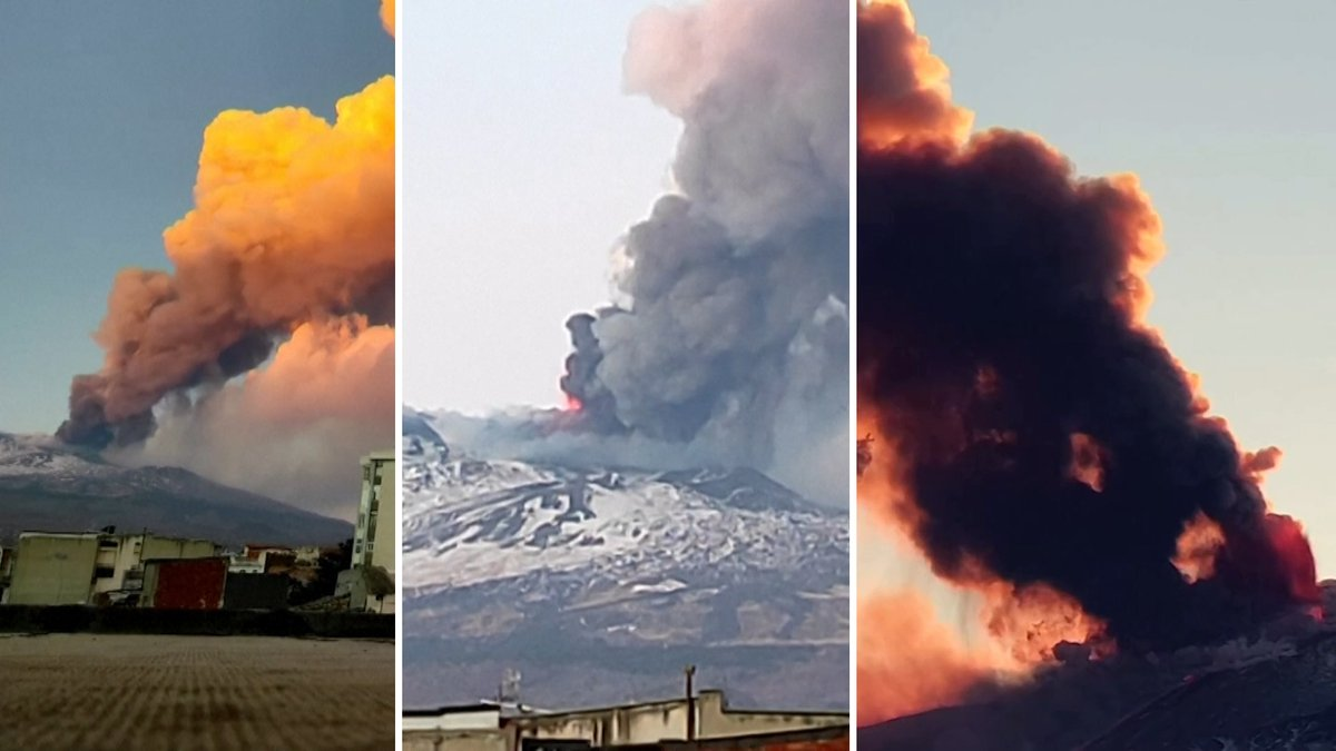 Europes most active volcano, Mount Etna, erupted once again on Tuesday, February 16. We collected every angle we could find of the blast. Thread. 👇
