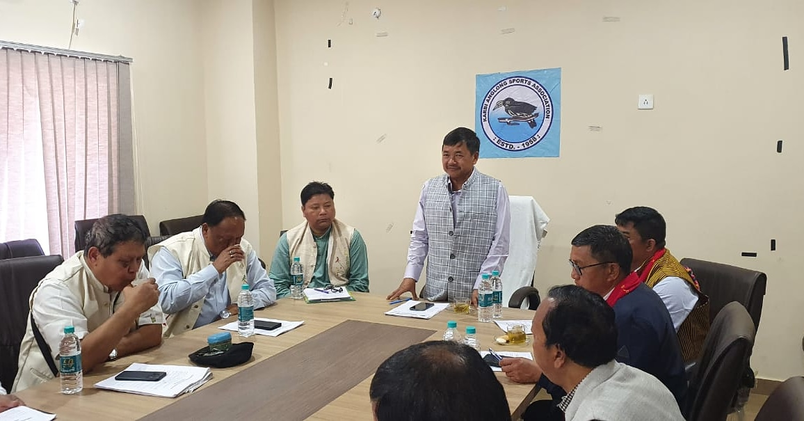 Held the Executive Meeting yesterday at Karbi Anglong Sports Associations-KASA Auditorium Hall, with Mongol Sing Timung EM, Amarsing Tisso EM, Ratan Teron EM, Darsing Ronghang MAC, Probhat Chandra Taro MAC, Pankaj Teron, General Secretary, KASA, and other KASA members.