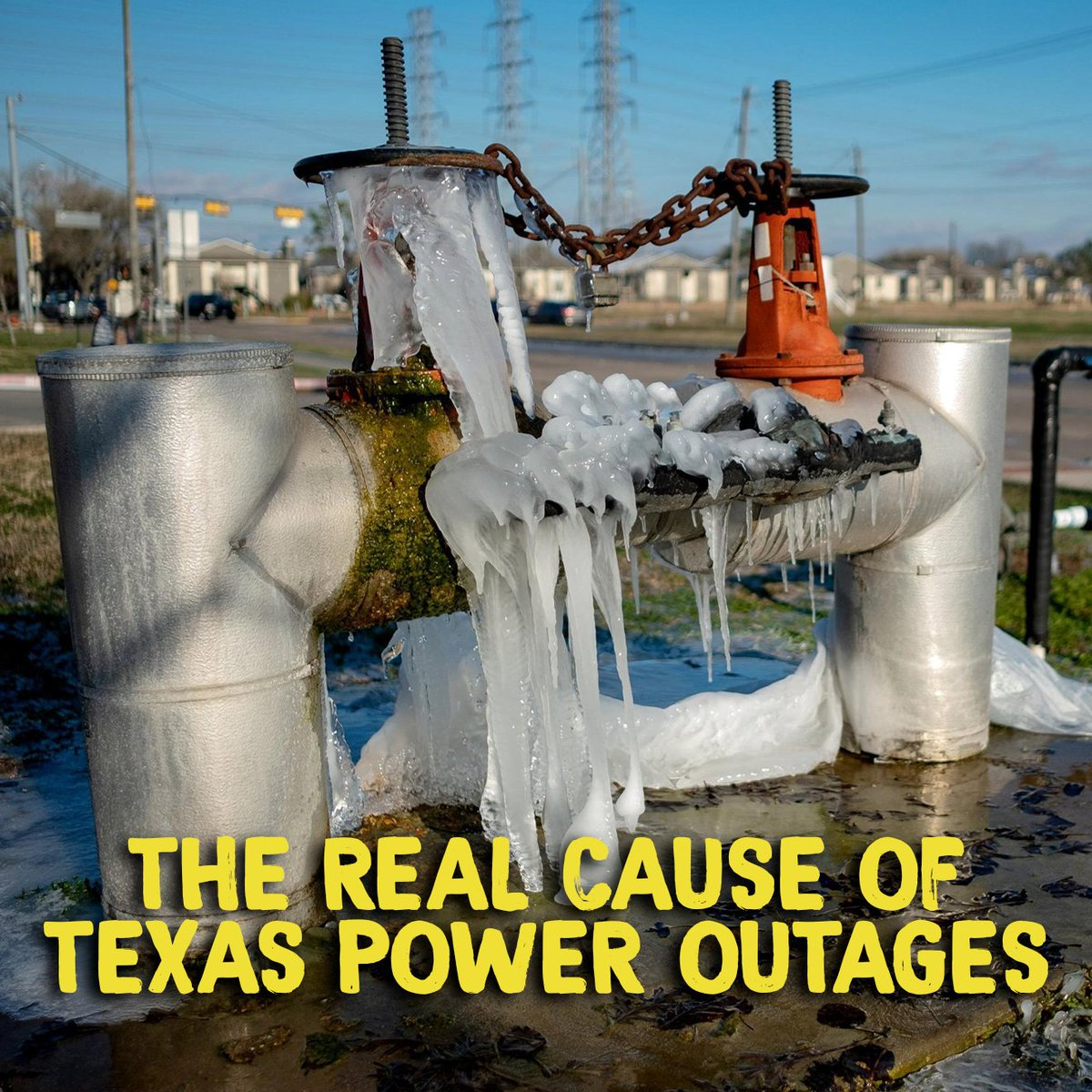 While Texans freeze, Governor Abbott is spouting lies on Fox News about the Green New Deal — which hasn't even been implemented yet.  Here's the truth: Texas' energy infrastructure isn't prepared for climate change. The goal of the Green New Deal is to make sure we are prepared.