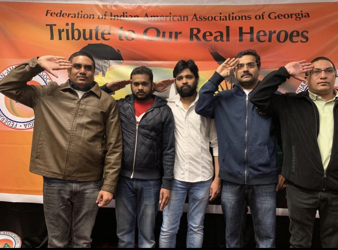 It has had been exactly 2 years ago on this date we paid tribute to our real heroes who had been martyred in the #pulwamaattack   #Atlanta #PulwamaTerrorAttack #PulwamaMartyrs
