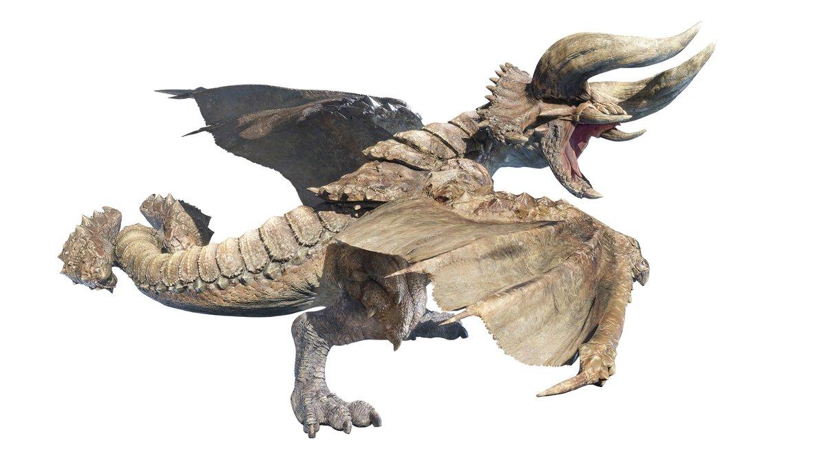 【角竜 ディアブロス】 数々のハンターをなぎ倒してきた暴君。 非常に縄張り意識が強く、侵入した者には異常なまでの攻撃性を見せる。 また、「角竜」の異名にふさわしい、巨大な双角を活かした突進の破壊力は凄まじく、慎重な立ちまわりが要求される。  capcom.co.jp/monsterhunter/… #モンハンライズ