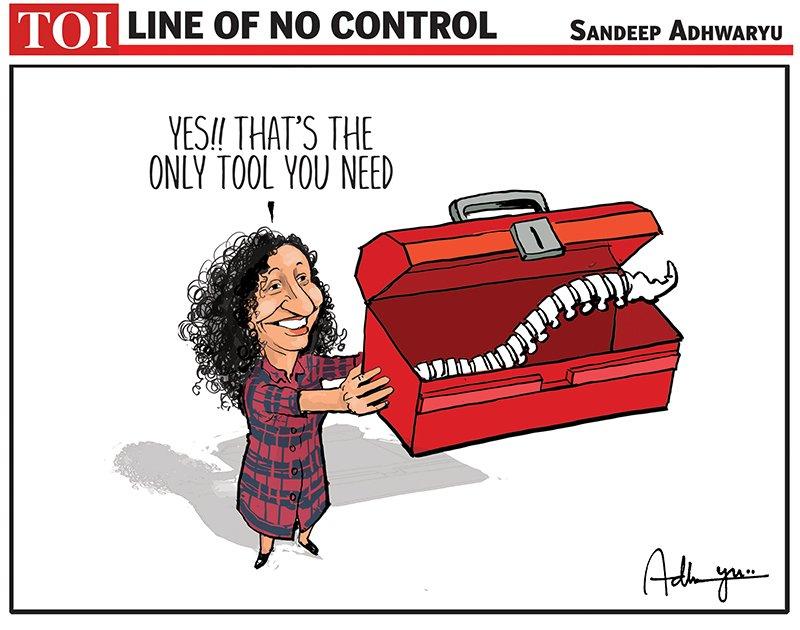 Replying to @CartoonistSan: #cartoon @timesofindia #PriyaRamani