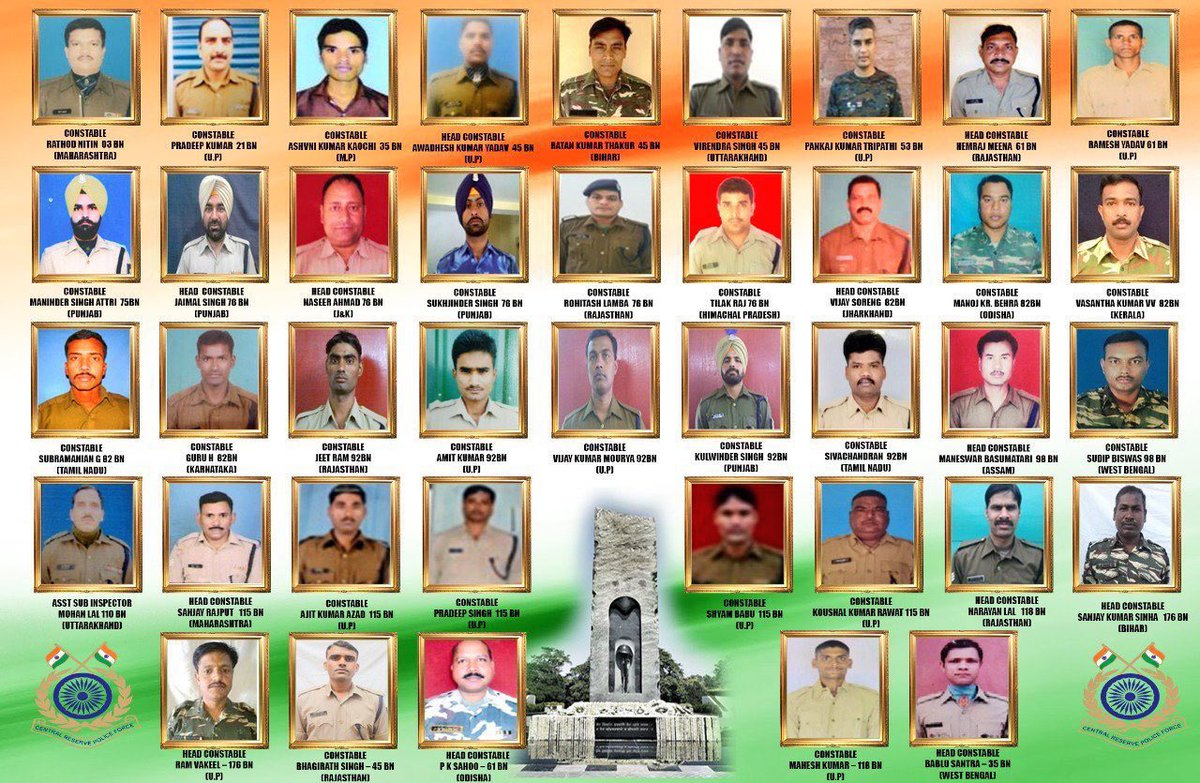 Salute to the Martyrs of the #PulwamaTerrorAttack. We will never forget your sacrifices. It's because of you, the course of India's history changed in 2019. Jai Hind 🇮🇳
