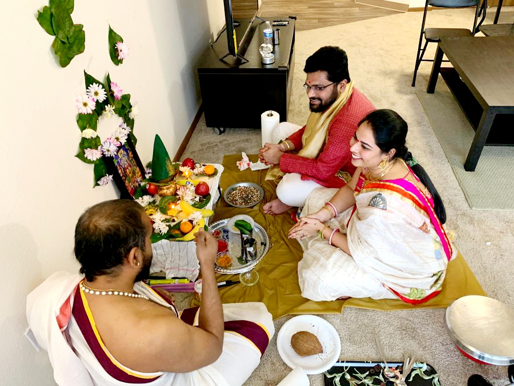 Organized and offered special prayers at home on the occasion of our Hon'ble Chief Minister-> Maestro #KCR garu, followed by planting saplings as a part of #KotiVriksharchana in USA. #HappyBirthdayKCR  @KTRTRS @MPsantoshtrs @JAGANTRS @trspartyonline