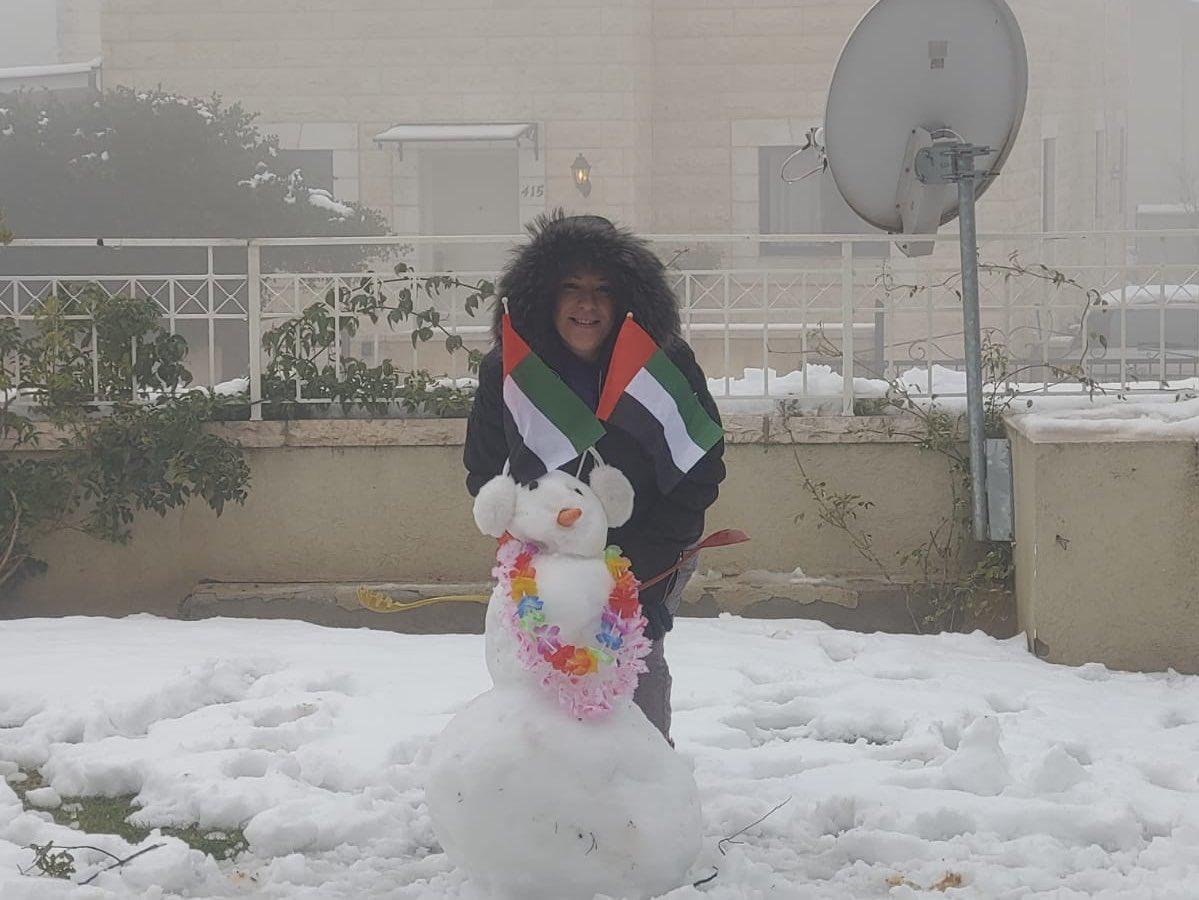 اجواء الثلج في ارجاء اورشليم القدس ترسم صوراً ومناظر خلابة واجملها صور وشعارات السلام  @JustineZwerling …