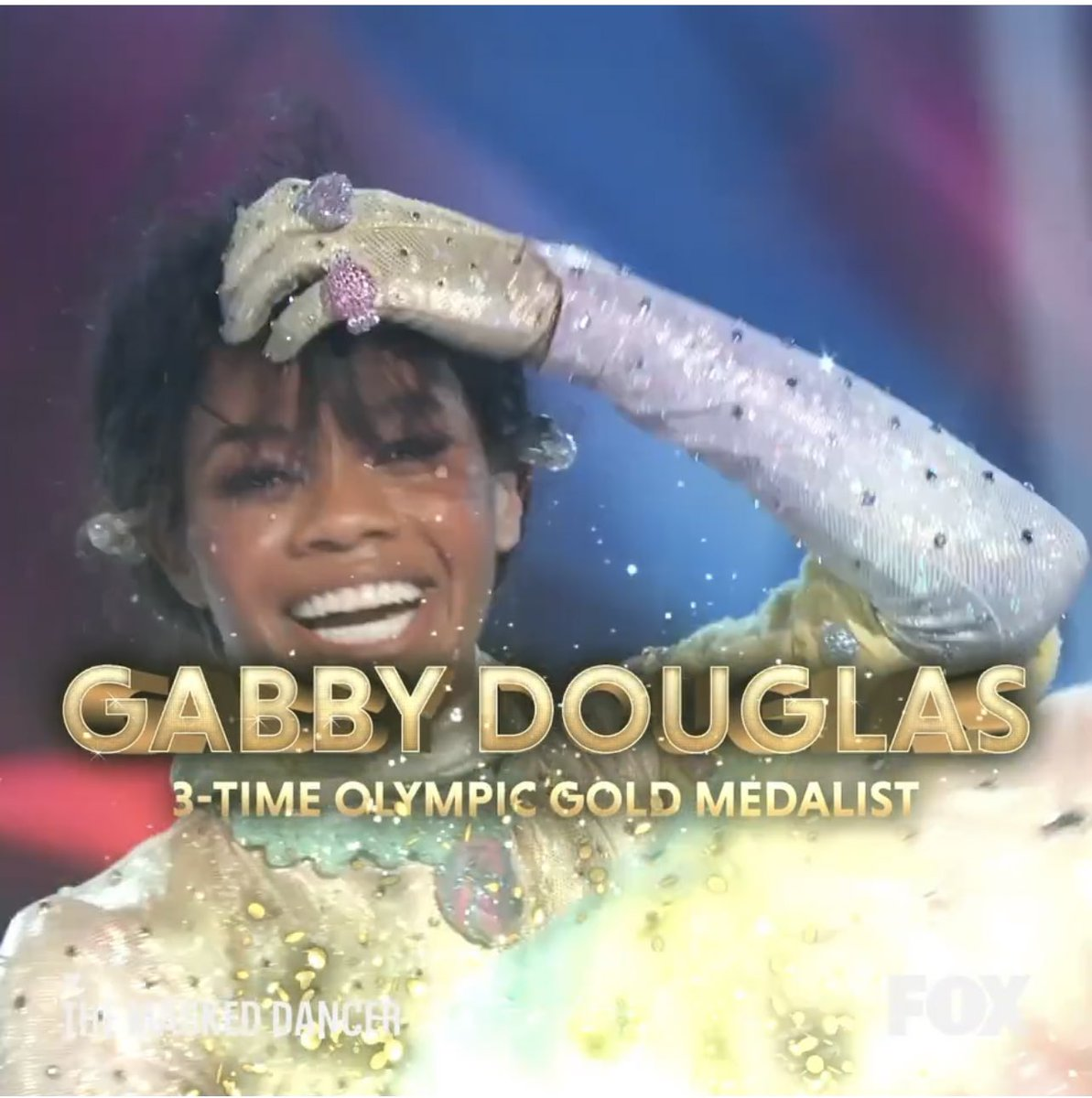 I knew that #CottonCandyMask was either @gabrielledoug or @Simone_Biles and @ashleytisdale guessed Simone and @PaulaAbdul guessed Gabby and the Winner of #TheMaskedDancer was Unmasked as Gabby Douglas