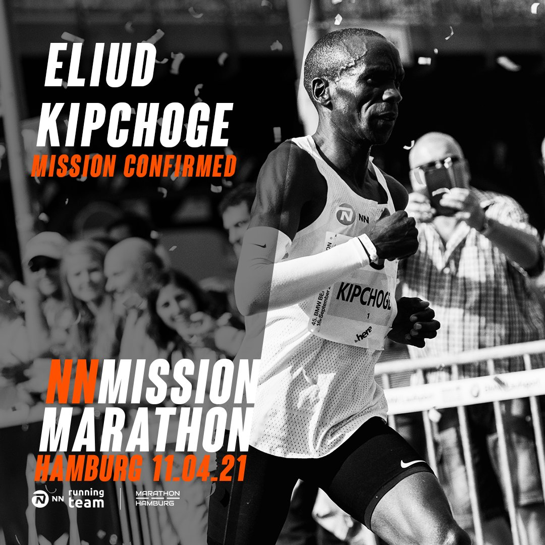 Back to where it all started... 🐐 After his marathon debut in 2013, Eliud Kipchoge will come back to Hamburg for the NN Mission Marathon on April 11. #MissionMarathon