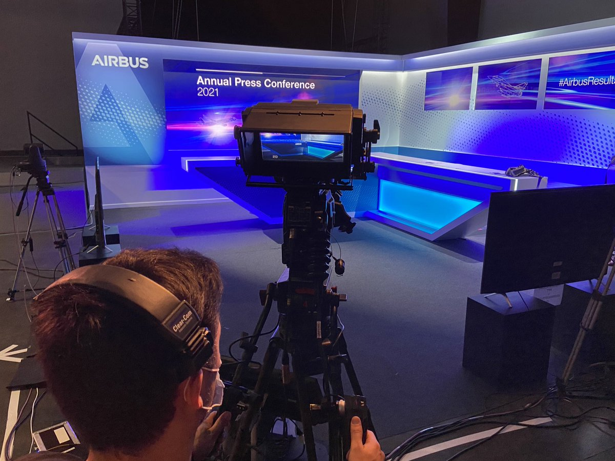 #AirbusResults press conference starts in 1h30mns!  📽 check. 📶 check. 💻 check. 🎤 check. Join us at 0930 CET: https://t.co/ZmS59s4adM https://t.co/Ze9k4N8FYu