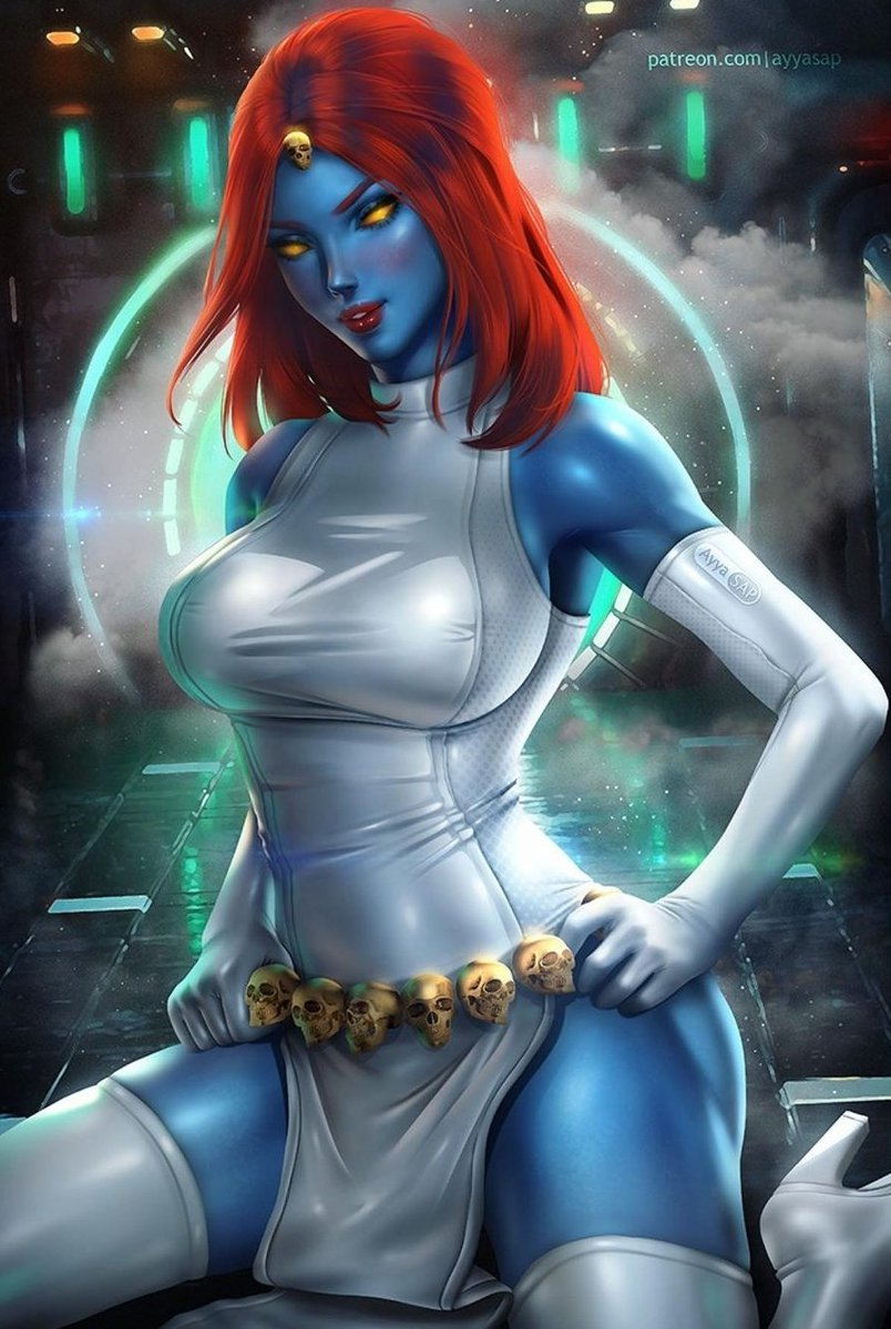 Mystique (Mística) 💙 Art by @AyyaSAP ✒ #xmen #XMENVOTE #Marvel #comic #comics #SerpentComics