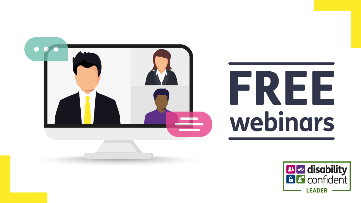 📆 Free #DisabilityConfident webinars will take place in the coming months for employers wanting to better support disabled staff in their roles. (1/2)