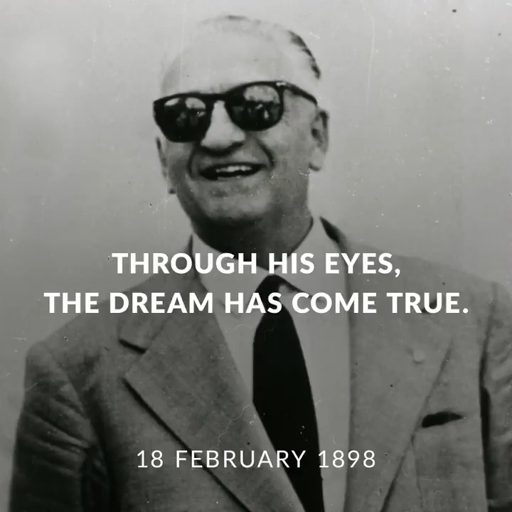 #RememberingEnzo From behind his iconic sunglasses, Enzo Ferrari's vision crafted the legend of the Prancing Horse. To honour our founder's 123rd birthday we give you a new point of view on how the #Ferrari dream was built, through his eyes.