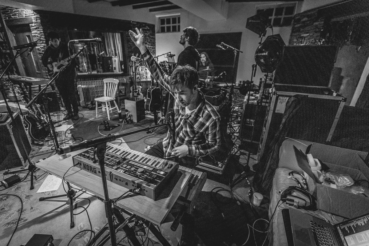 Rehearsing for the last band tour we did in support of the Years In Between album. Me looking at the keyboard with a look of, 'well wtf do I do with this?!' With @tommyashbymusic @H3nrik and @FishcakeJackson Jx