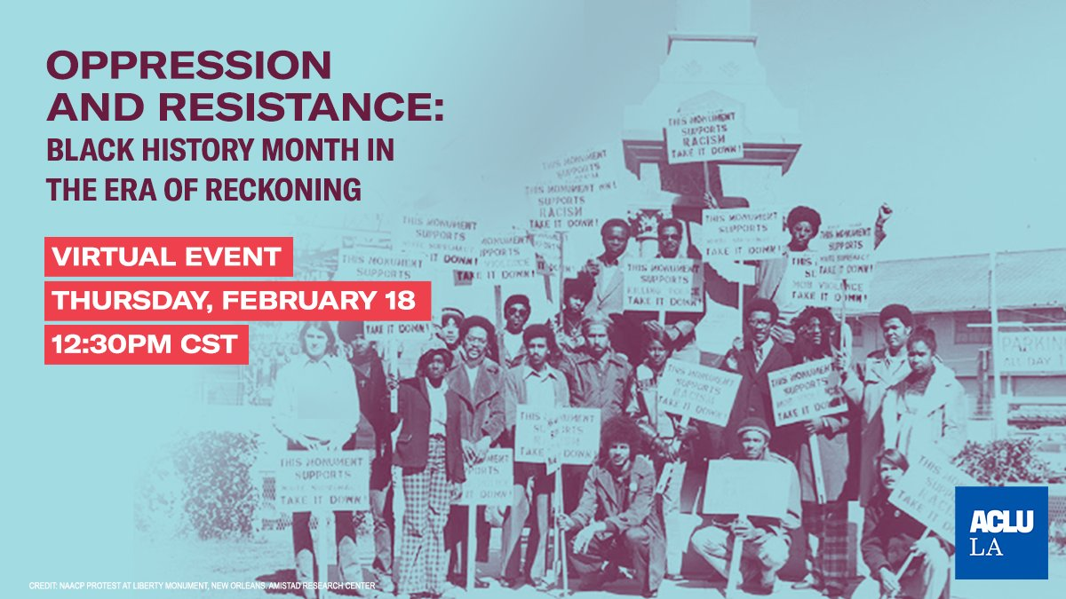 Happening TODAY -->> a virtual discussion about oppression, resistance, truth-telling, and the ongoing fight for Black lives. RSVP:  #BlackHistoryMonth