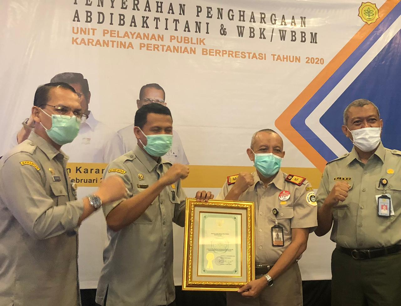BBKP Surabaya Wins Two Awards at the same time from the Ministry of Agriculture, RB and the Ministry of Agriculture