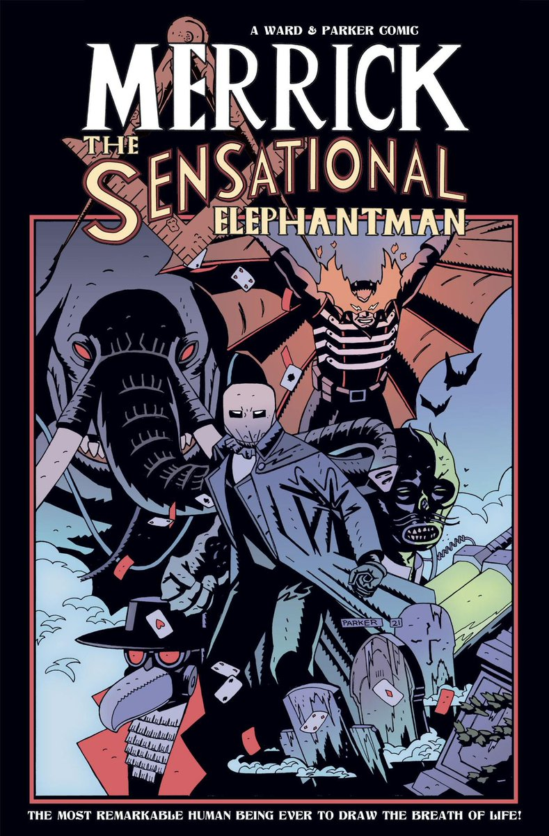 Merrick: The Sensational Elephantman vol.2 tpb now LIVE on Kickstarter. 152 pages of Victorian pulp pennydreadful adventure from me @Artofparker & @micahmyers. Contains Merrick #5-8 plus the out of print Merrick & Crowe cross-over issue. FREE issue #1 DL.