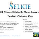 Image for the Tweet beginning: ✨@SelkieProject Webinar: Skills for the