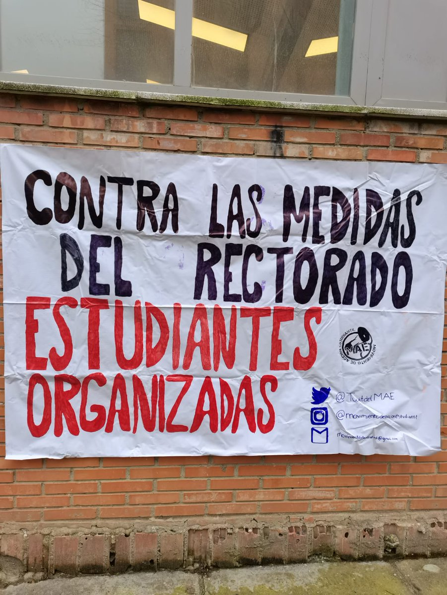 🔴Esta mañana hemos estado en el campus de Reina Mercedes denunciando la ⚠️FALTA DE SEGURIDAD⚠️ que hemos estado sufriendo en los exámenes presenciales de la @unisevilla.  📢 Por unos #examenesseguros‼️   #rectorusdimision