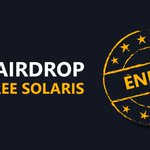 Image for the Tweet beginning: 🪂 $XLR #AIRDROP ENDED🪂 The Solaris