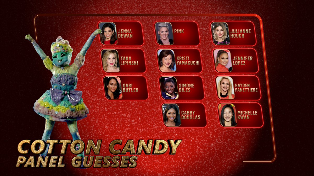 @Lory_Wolfgirl90 @hotburrito9 She was one of the guesses for #CottonCandyMask on last night's #TheMaskedDancer but it wasn't her it was Gabby Douglas.