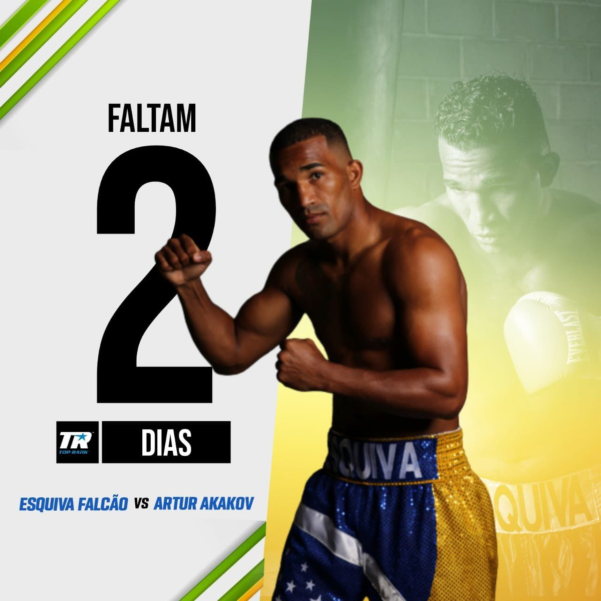 #teamesquiva   2 dias apenas para eu subir naquele ring e dar o meu melhor. Conto com a torcida de todos 🇧🇷