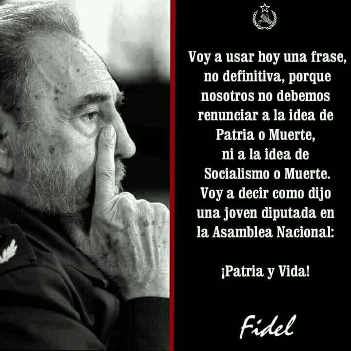 """Nislay Molina Napoles on Twitter: """"Una muestra más d q los vende patria y  provocadores sólo saben copiar y sacar d contexto las frases. """"Patria y Vida""""  lo dijo Fidel el 23"""