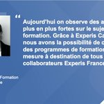 Image for the Tweet beginning: #weAreExperis Former les talents et