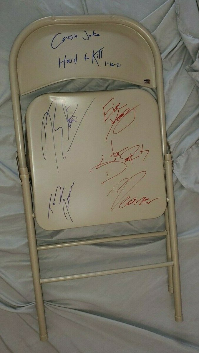This ring-used steel chair from #HardToKill is available to bid on NOW on our eBay store!   Bid HERE: