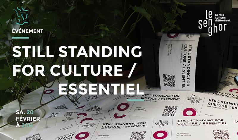 Still Standing For Culture un spectacle qui n'en est pas un ! Ce samedi à 20h @Le_Senghor  Personne ne doit venir mais tout le monde peut intervenir. Réservez votre billet (gratuit) pour soutenir le culturel  https://t.co/e6QtZ0TNXg  #centreculturelessentiel #centreculturelouvert https://t.co/BmIwvsR9Ly