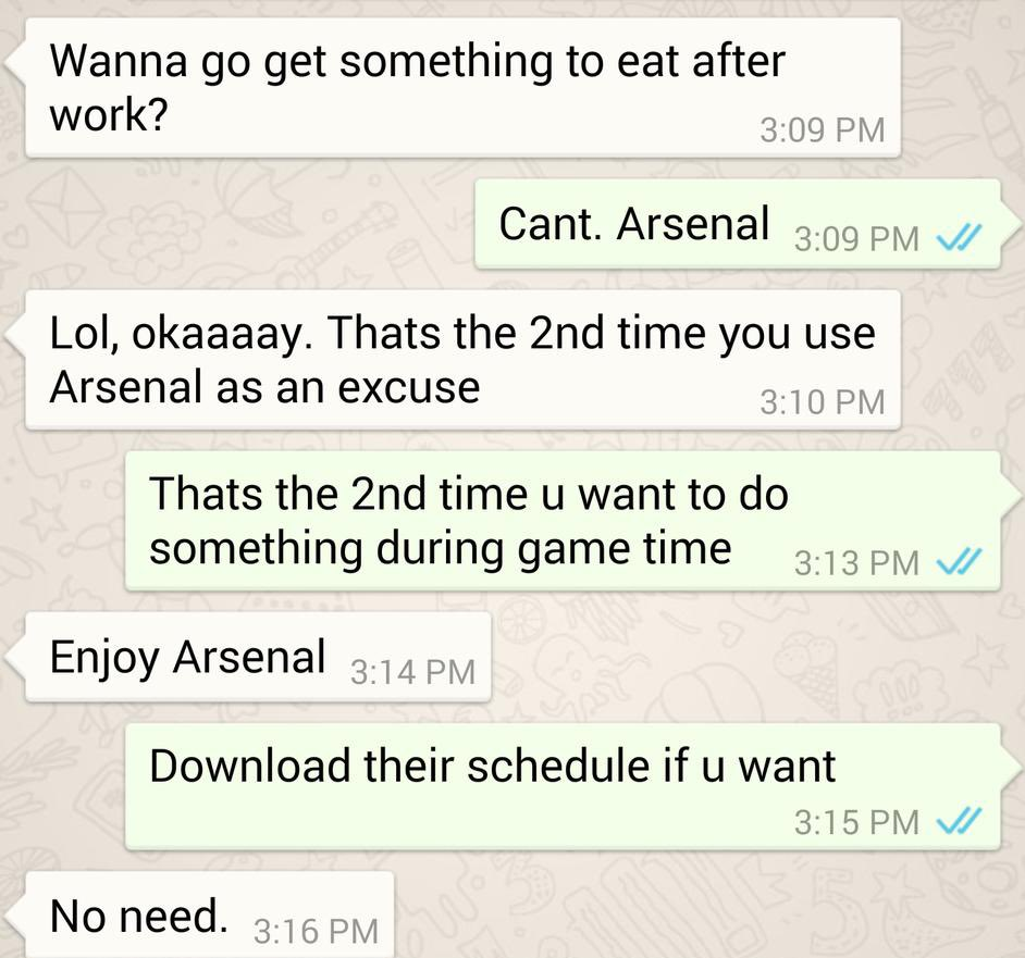 Replying to @49gunsalute: Don't let me down today I take risks @Arsenal