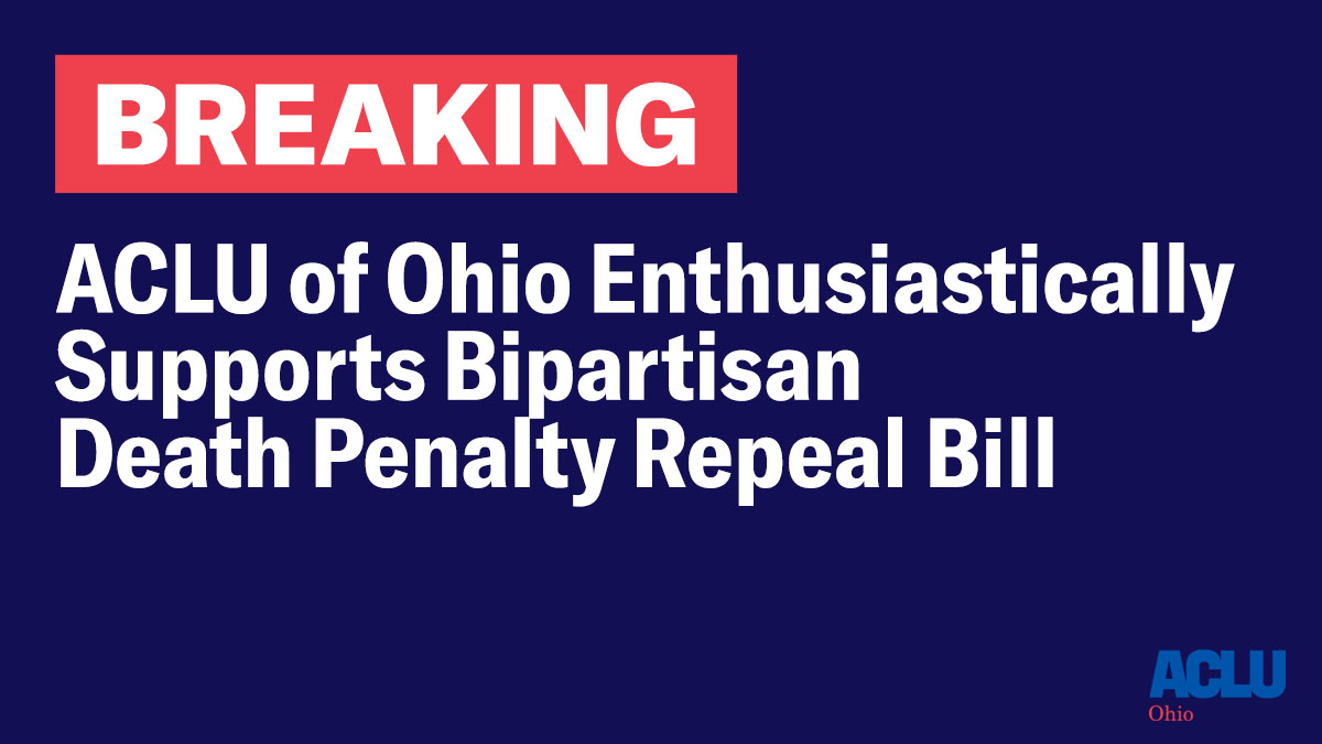 Today a bipartisan effort to end the death penalty was unveiled by @nickieantonio @SteveHuffmanOH @kristinaroegner @NirajAntani @SenSWilliams @RepBrideSweeney Rep Schmidt & Rep. Miller w/ @OhStopExecution @WTIUSA @HannahCox7 Jim Tobin @JackSullivanJr Father Chris Wittmann, S.M https://t.co/o4l1vGwNFF