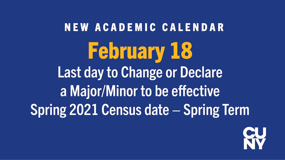 Academic Calendar Cuny Spring 2021 Background