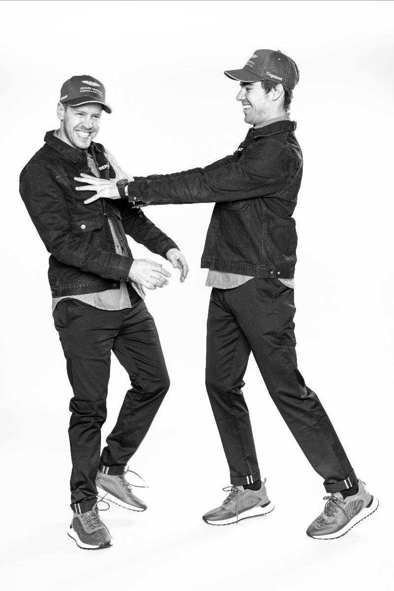 Sebastian Vettel e Lance Stroll