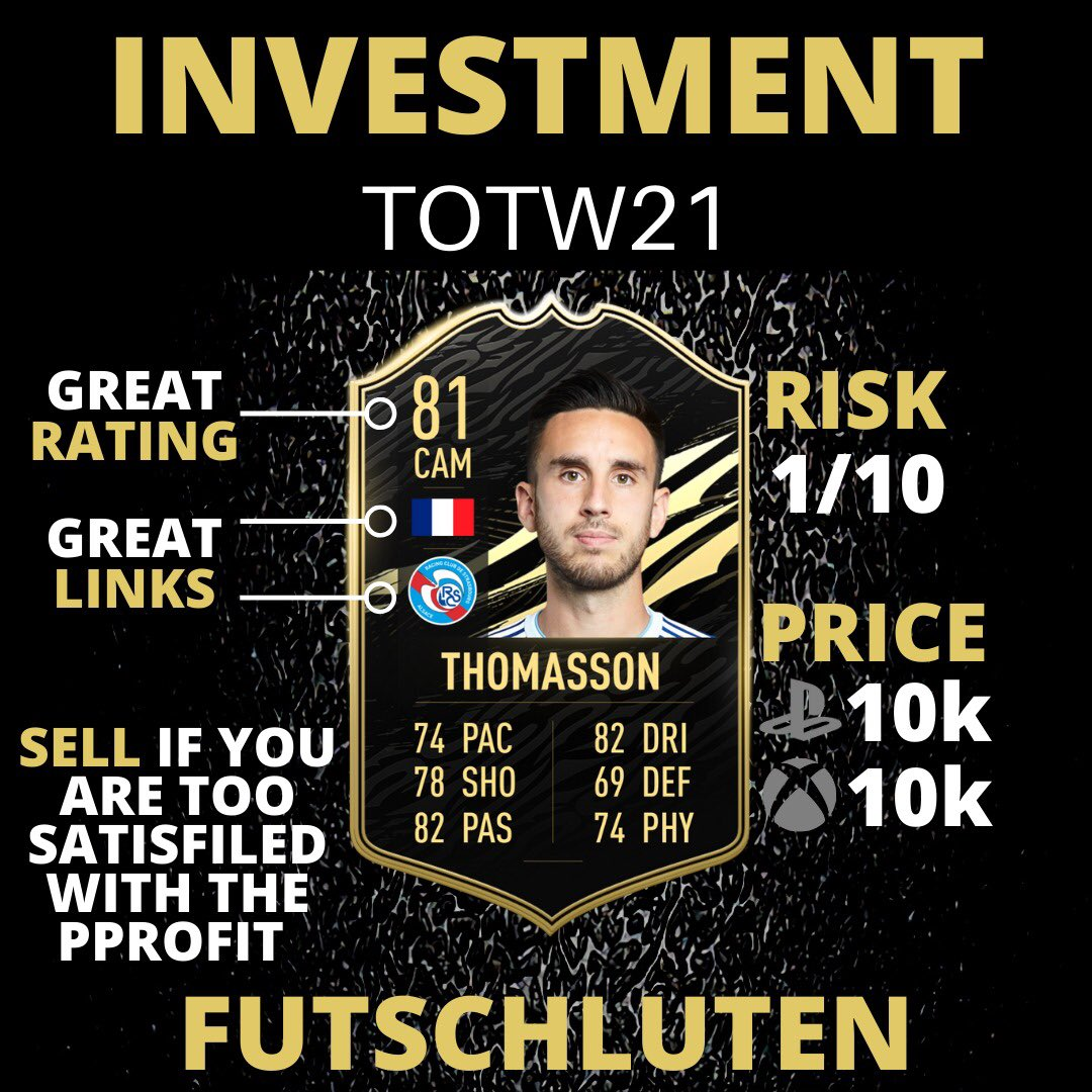 (1/2) TOTW21 Investments 🔥  👇🏻Follow for more FIFA content! @futschluten  #fifa #fifa21 #fifaultimateteam #fifa2021 #fifamemes #fut21 #fifasolutions #fifapacks #fifamarket #fifatrading #trader #fifatrader #trading #fifatrading #totw19 #sbc #teamoftheweek #teamoftheyear #toty