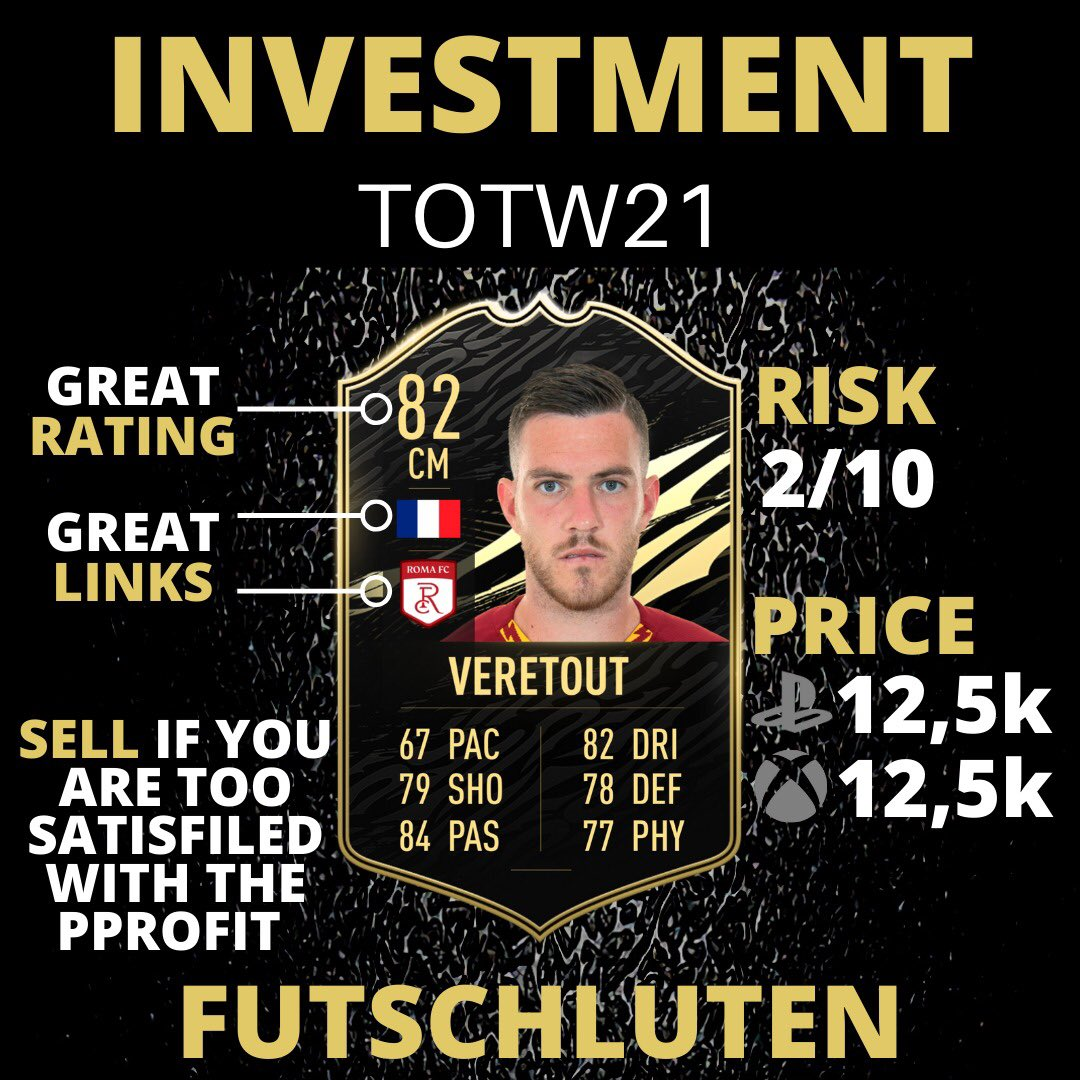 (2/2) TOTW21 Investments 🔥  👇🏻Follow for more FIFA content! @futschluten  #fifa #fifa21 #fifaultimateteam #fifa2021 #fifamemes #fut21 #fifasolutions #fifapacks #fifamarket #fifatrading #trader #fifatrader #trading #fifatrading #totw19 #sbc #teamoftheweek #teamoftheyear #toty