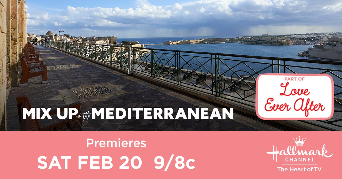#Hallmarkies, your coastal trip awaits! Dont miss the breathtaking views in the all new Mix Up in the Mediterranean this Saturday at 9/8c, and see how Meg @jessicalowndes handles her feelings for Julian @JeremyMJordan, thinking hes married to another man. #MixUpInTheMed