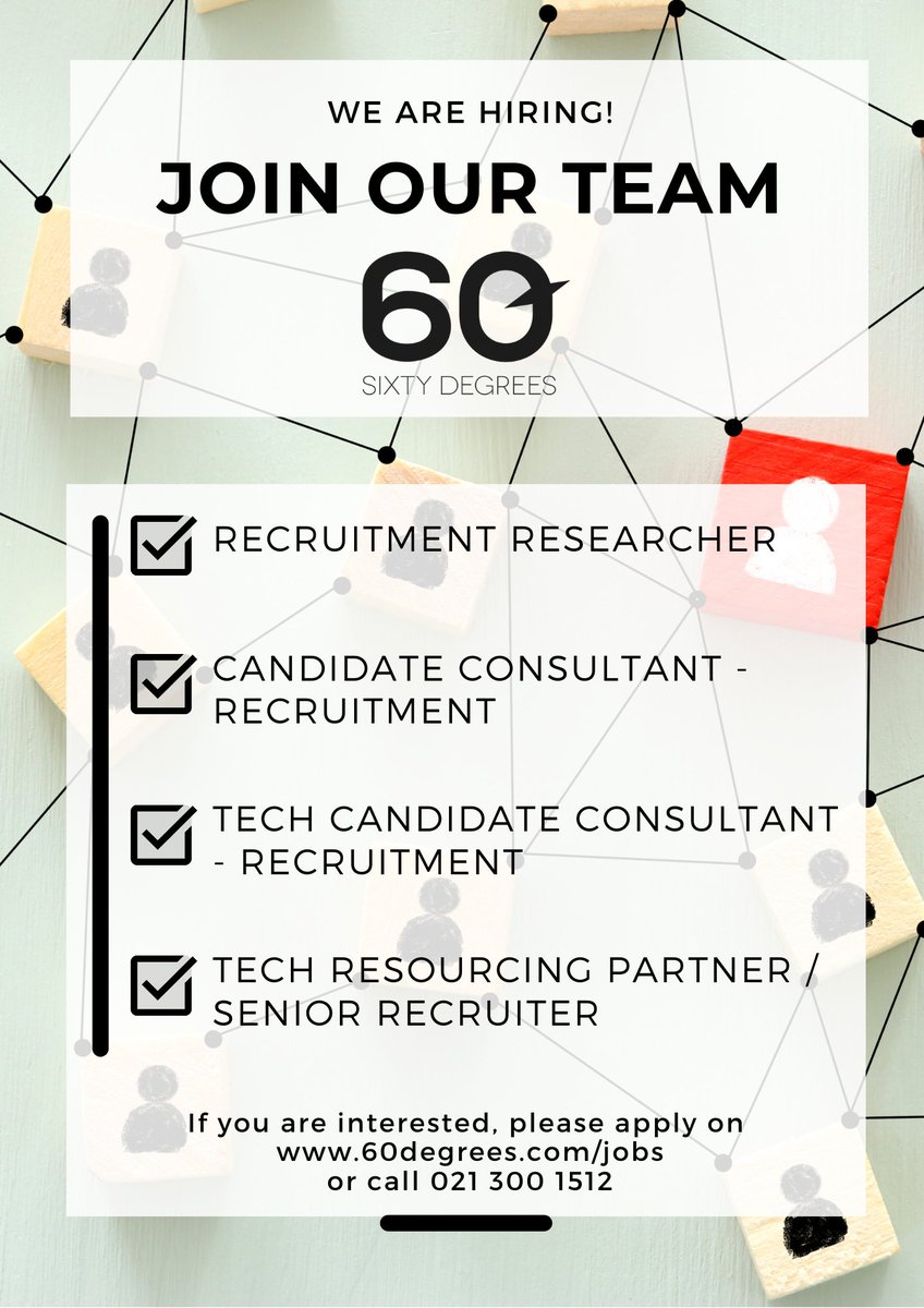 test Twitter Media - 60 Degrees is Hiring!  Come join our team! If you are interested in working with our team of experts, please visit our website.  #nowhiring #talentaquisition #astonholmes #recruitment2021 https://t.co/yOBrFZpmXu