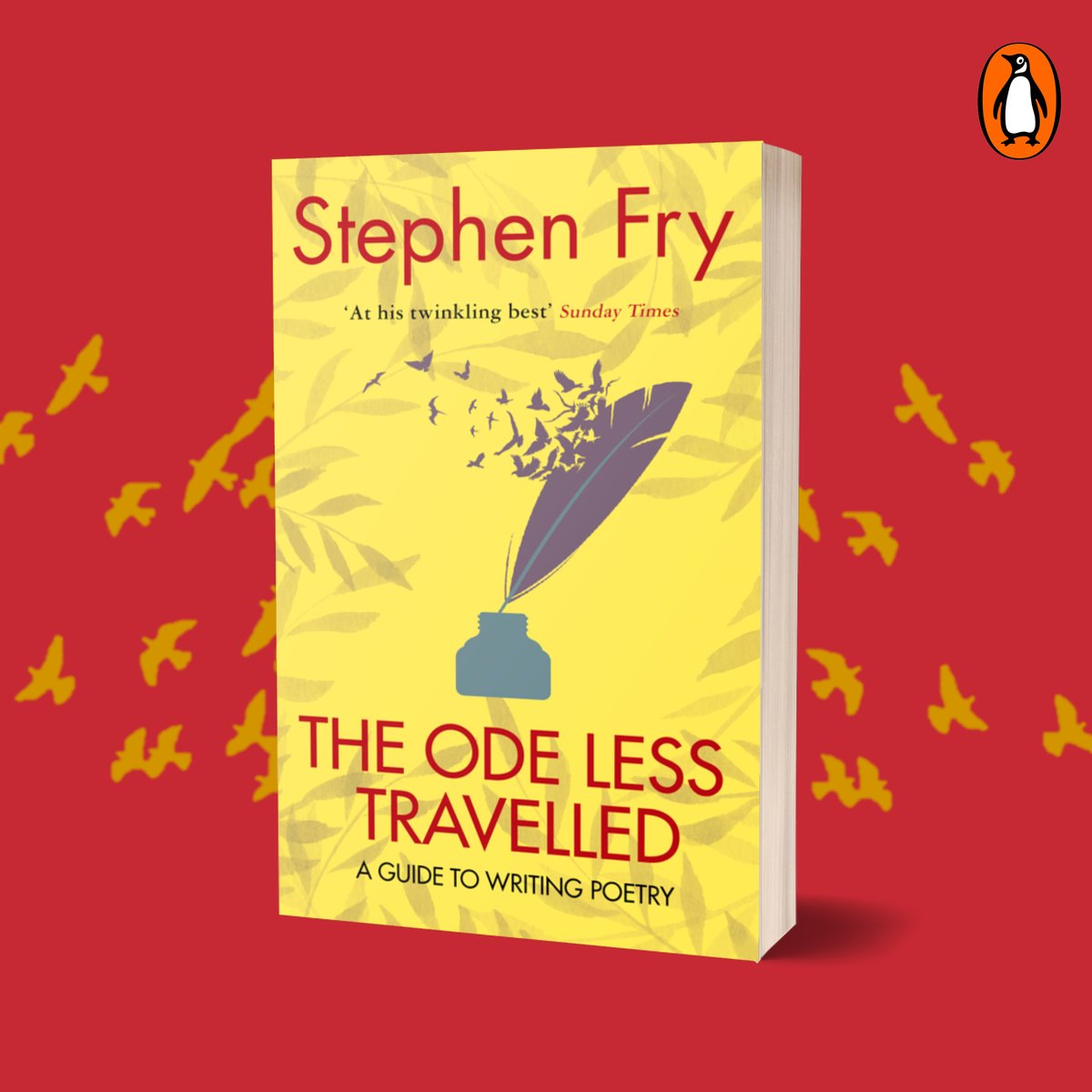 THE ODE LESS TRAVELLED, @stephenfry's guide to writing poetry, is also now available with a stunning new cover.  Full of exercises, witty insights and step-by-step advice, it guides the reader towards mastery and confidence in the Mother of the Arts.