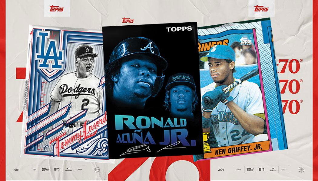 Snoop Dogg's Ronald Acuna Jr., Mister Cartoon's Tommy Lasorda and Bobby Hundred's Ken Griffey Jr. are the second batch of Topps #Project70