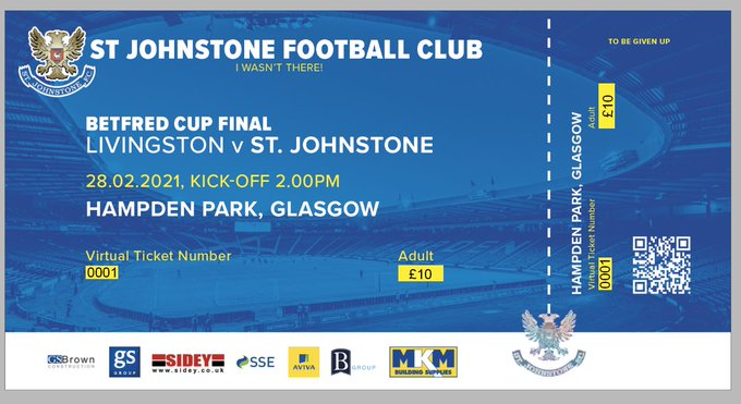 St Johnstone Betfred Cup Final souvenir ticket