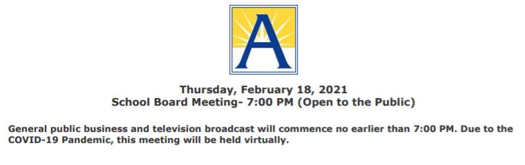 وسيعقد اجتماع مجلس إدارة المدرسة كما هو مخطط لها، تقريبا، ابتداء من الساعة 7:2 18/2 جدول نشر في https://t.co/u2GDkYHodz تلبية وتش الحية في https://t.co/FqNnfa8ehp عمل البنود: لا يوجد الشبكي: //t.co/Q8hkCii7vf