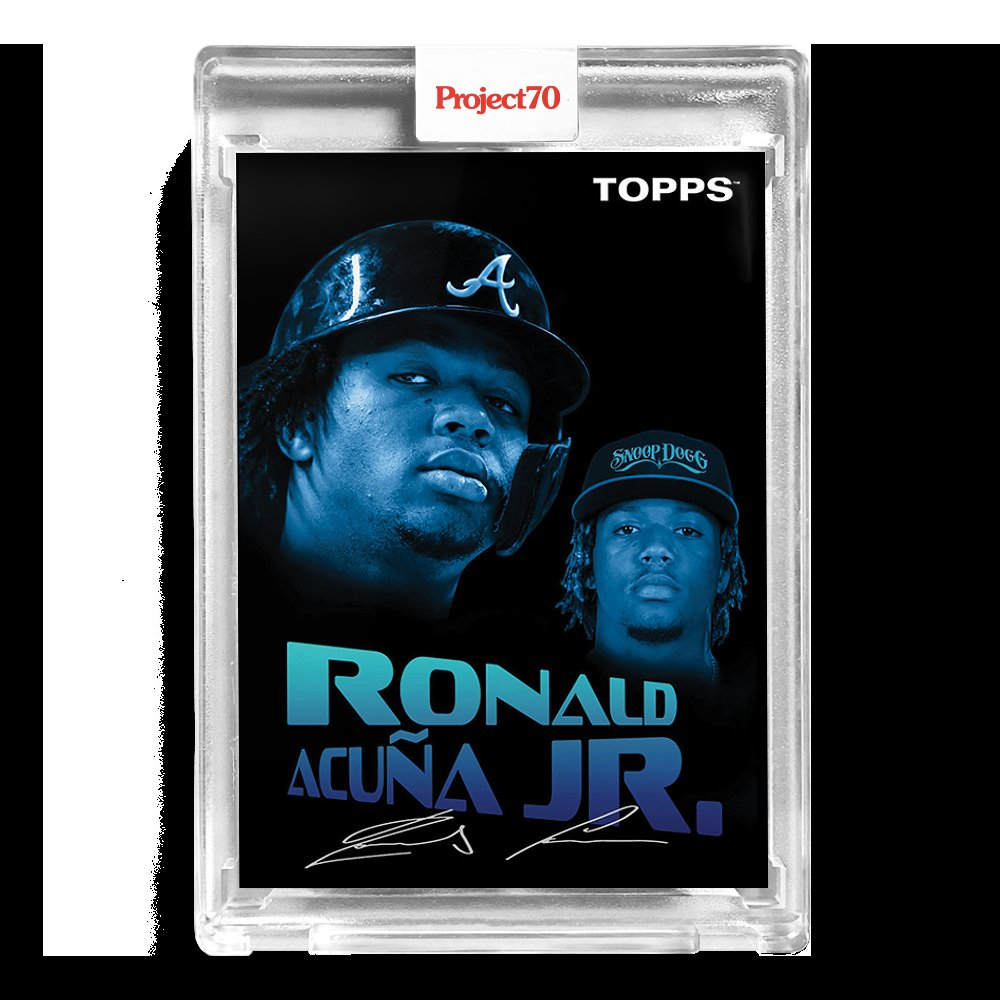 """The new @Topps """"Project 70"""" @ronaldacunajr24 baseball card designed by @SnoopDogg."""