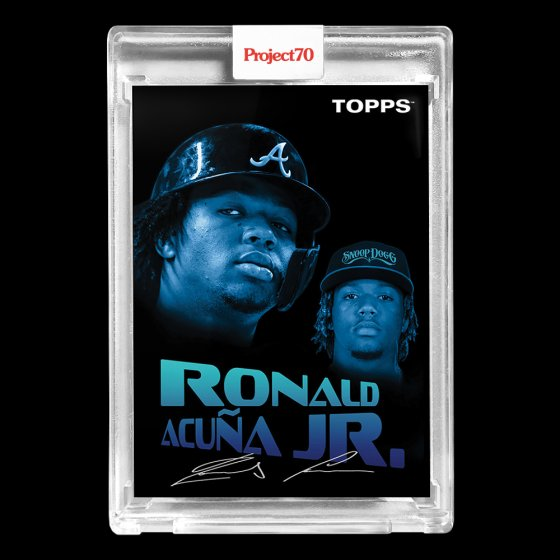 Replying to @Project70Cards: Topps #Project70 #4 1954 Ronald Acuna Jr. by Snoop Dogg