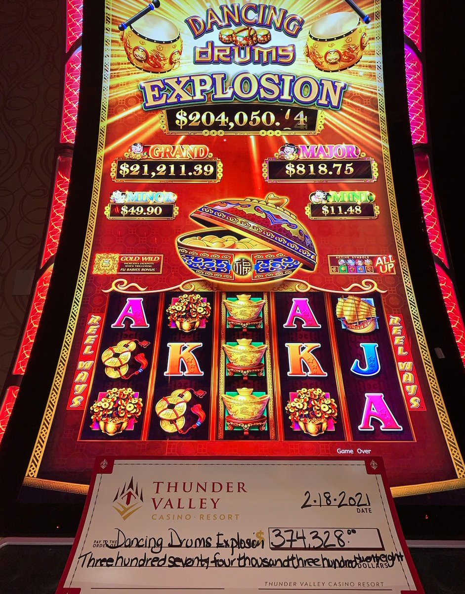 Congratulations to the lucky guest who took home a $374,328 jackpot earlier this morning on Dancing Drums Explosion! 🥁