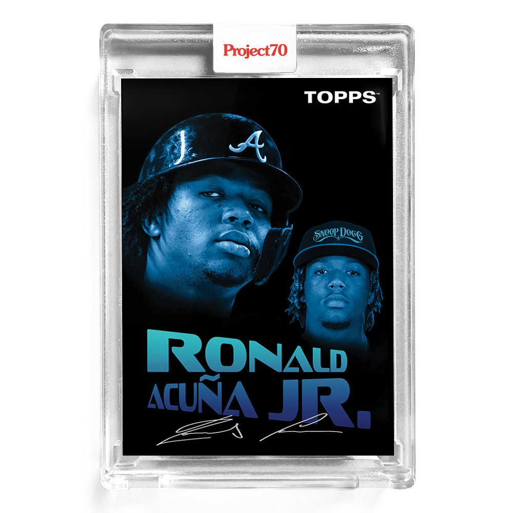 Replying to @ToppsLivingStat: #4 Ronald Acuña Jr., Braves by Snoop Dogg  Based on 1954 Topps