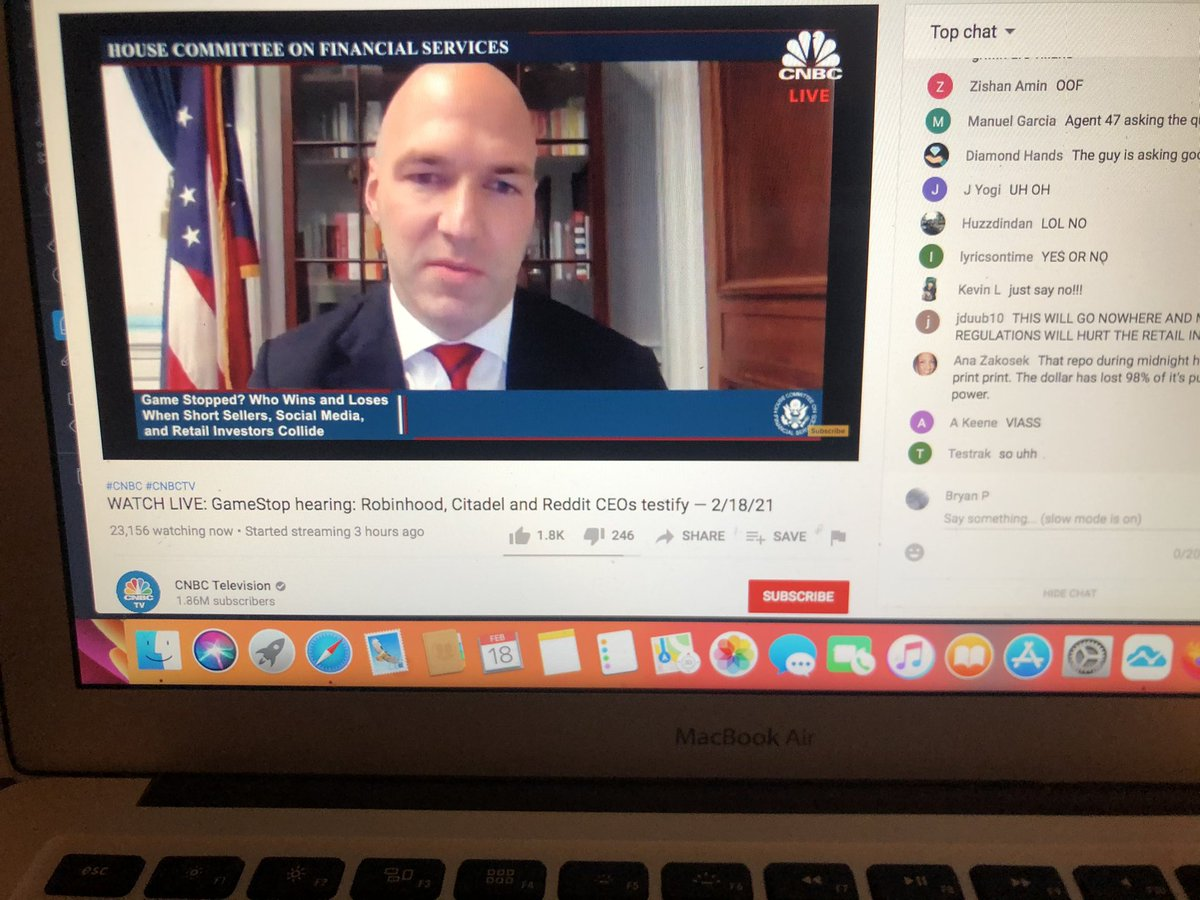 Former Colts player Anthony Gonzalez in the congressional hearings today. Wow. Lol. I knew I recognized him.